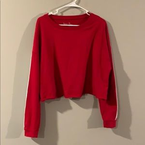 Red Cropped Swearshirt